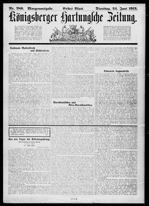 Königsberger Hartungsche Zeitung vom 24.06.1913