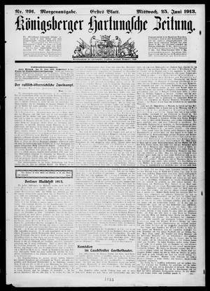 Königsberger Hartungsche Zeitung vom 25.06.1913