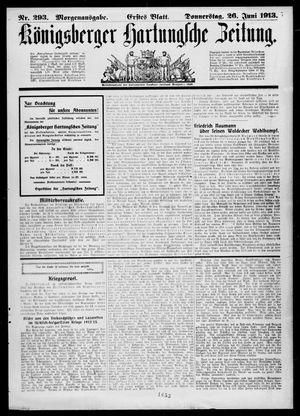 Königsberger Hartungsche Zeitung on Jun 26, 1913