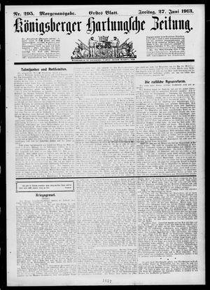 Königsberger Hartungsche Zeitung on Jun 27, 1913