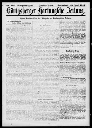 Königsberger Hartungsche Zeitung vom 28.06.1913