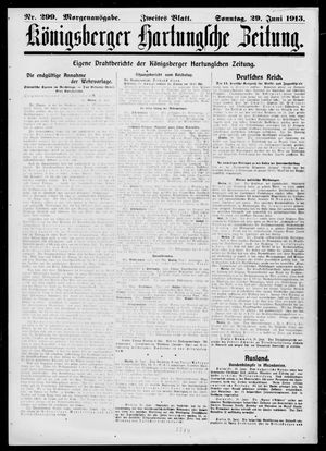 Königsberger Hartungsche Zeitung vom 29.06.1913