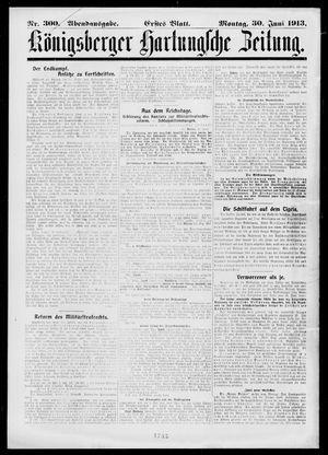 Königsberger Hartungsche Zeitung vom 30.06.1913