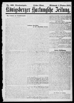 Königsberger Hartungsche Zeitung vom 01.10.1913