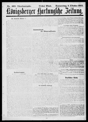 Königsberger Hartungsche Zeitung vom 02.10.1913