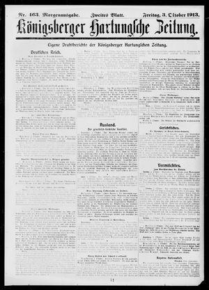 Königsberger Hartungsche Zeitung vom 03.10.1913
