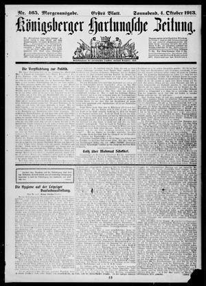 Königsberger Hartungsche Zeitung vom 04.10.1913