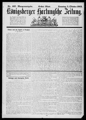 Königsberger Hartungsche Zeitung vom 05.10.1913