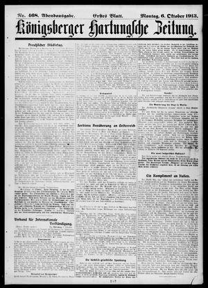 Königsberger Hartungsche Zeitung vom 06.10.1913