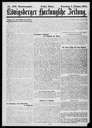 Königsberger Hartungsche Zeitung vom 07.10.1913