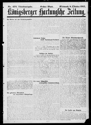 Königsberger Hartungsche Zeitung vom 08.10.1913