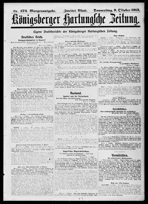 Königsberger Hartungsche Zeitung on Oct 9, 1913