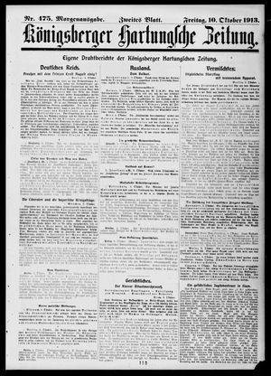 Königsberger Hartungsche Zeitung vom 10.10.1913