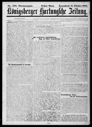 Königsberger Hartungsche Zeitung vom 11.10.1913