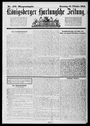 Königsberger Hartungsche Zeitung vom 12.10.1913
