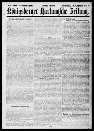Königsberger Hartungsche Zeitung vom 13.10.1913