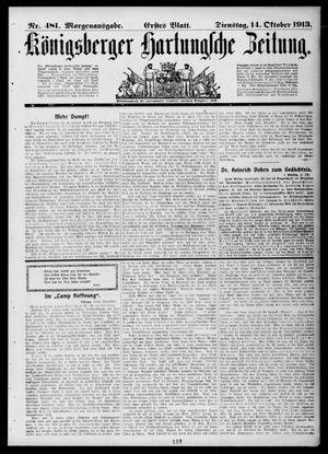 Königsberger Hartungsche Zeitung vom 14.10.1913