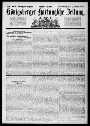 Königsberger Hartungsche Zeitung vom 15.10.1913
