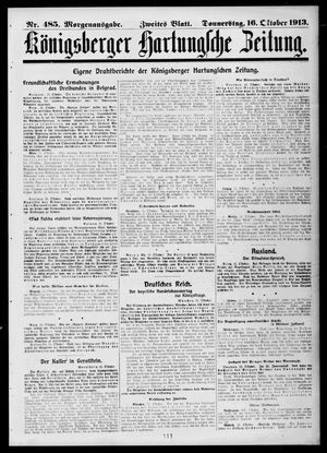 Königsberger Hartungsche Zeitung vom 16.10.1913