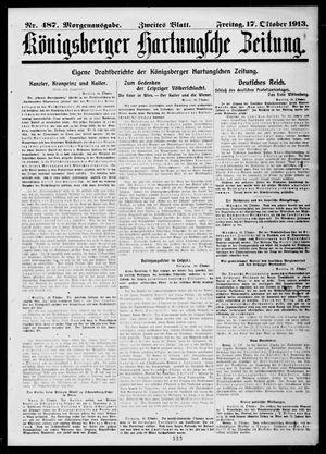 Königsberger Hartungsche Zeitung vom 17.10.1913
