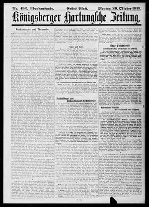 Königsberger Hartungsche Zeitung vom 20.10.1913