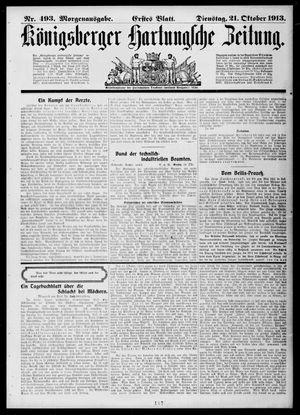 Königsberger Hartungsche Zeitung vom 21.10.1913