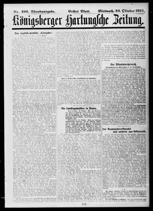 Königsberger Hartungsche Zeitung on Oct 22, 1913