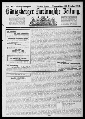 Königsberger Hartungsche Zeitung on Oct 23, 1913