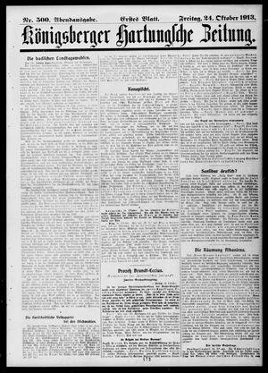 Königsberger Hartungsche Zeitung vom 24.10.1913