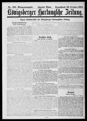 Königsberger Hartungsche Zeitung vom 25.10.1913