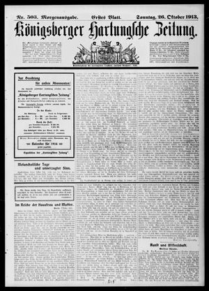 Königsberger Hartungsche Zeitung on Oct 26, 1913
