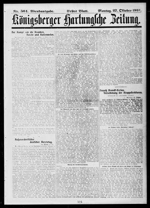 Königsberger Hartungsche Zeitung vom 27.10.1913