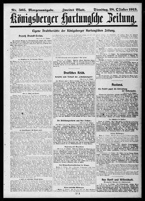 Königsberger Hartungsche Zeitung vom 28.10.1913