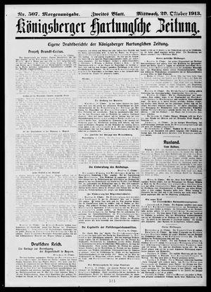 Königsberger Hartungsche Zeitung vom 29.10.1913