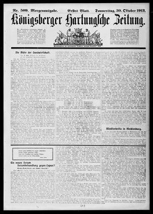 Königsberger Hartungsche Zeitung on Oct 30, 1913