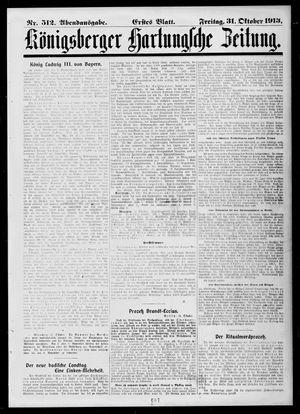 Königsberger Hartungsche Zeitung vom 31.10.1913