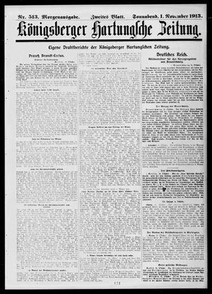 Königsberger Hartungsche Zeitung vom 01.11.1913