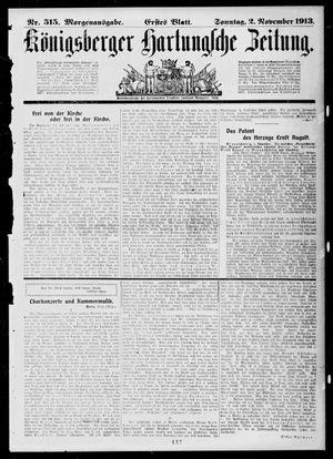 Königsberger Hartungsche Zeitung vom 02.11.1913