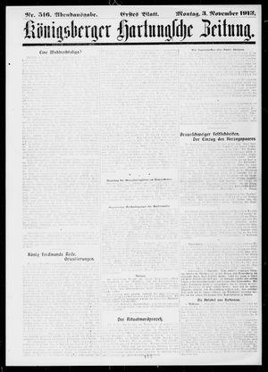 Königsberger Hartungsche Zeitung vom 03.11.1913
