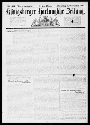 Königsberger Hartungsche Zeitung vom 04.11.1913