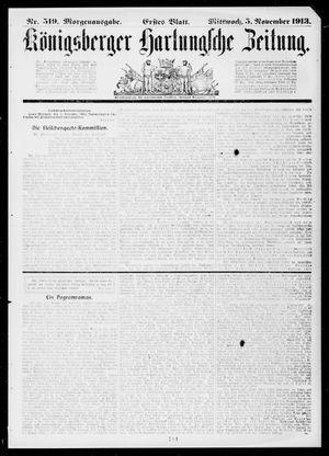 Königsberger Hartungsche Zeitung vom 05.11.1913