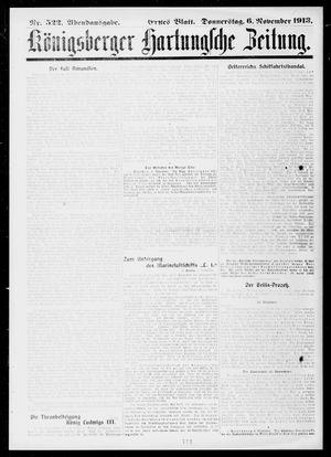 Königsberger Hartungsche Zeitung vom 06.11.1913
