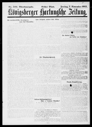Königsberger Hartungsche Zeitung vom 07.11.1913