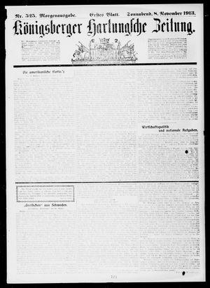 Königsberger Hartungsche Zeitung vom 08.11.1913