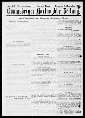 Königsberger Hartungsche Zeitung vom 09.11.1913