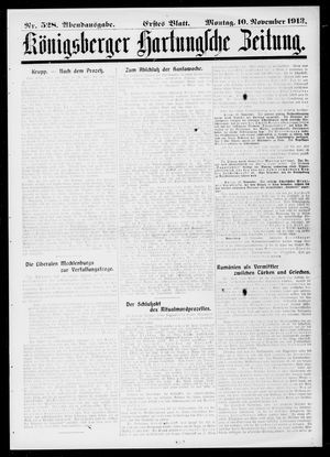 Königsberger Hartungsche Zeitung vom 10.11.1913
