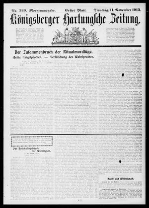 Königsberger Hartungsche Zeitung vom 11.11.1913