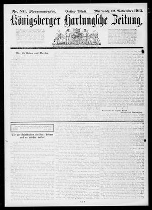Königsberger Hartungsche Zeitung vom 12.11.1913