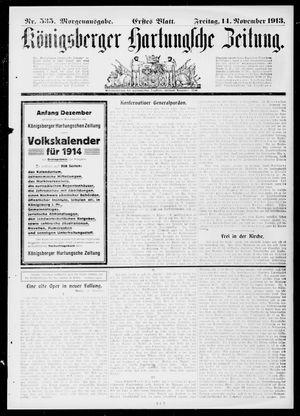 Königsberger Hartungsche Zeitung vom 14.11.1913