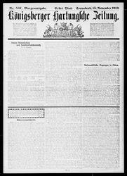 Königsberger Hartungsche Zeitung (15.11.1913)